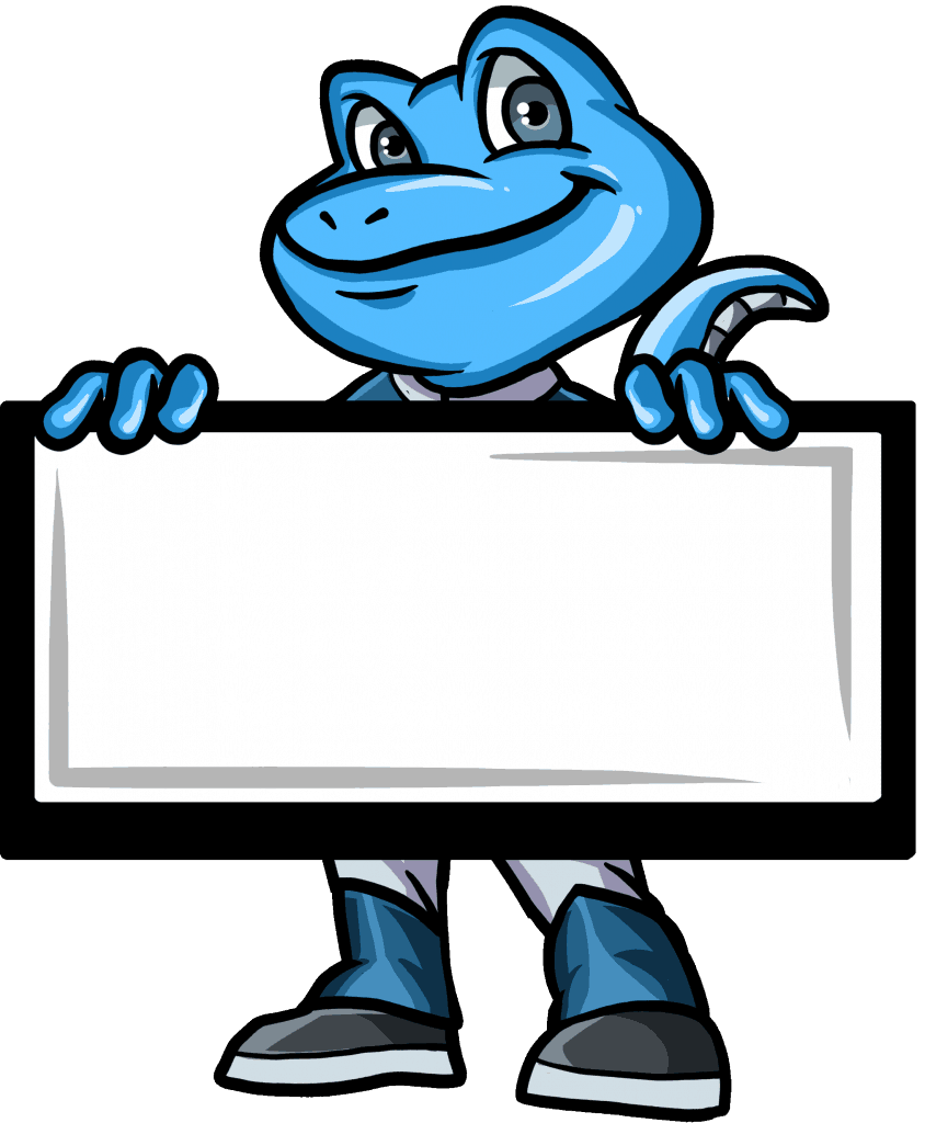 Gecko With Whiteboard